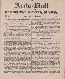 Amts-Blatt der Königlichen Regierung zu Danzig, 29. November 1879, Nr. 48