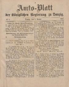 Amts-Blatt der Königlichen Regierung zu Danzig, 5. Januar 1884, Nr. 1