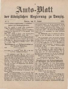 Amts-Blatt der Königlichen Regierung zu Danzig, 12. Januar 1884, Nr. 2
