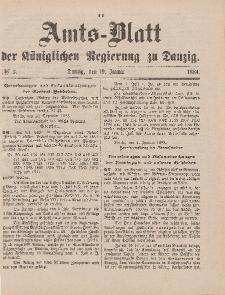 Amts-Blatt der Königlichen Regierung zu Danzig, 19. Januar 1884, Nr. 3