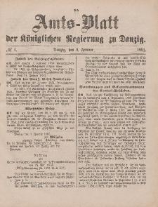 Amts-Blatt der Königlichen Regierung zu Danzig, 9. Februar 1884, Nr. 6