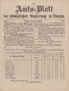 Amts-Blatt der Königlichen Regierung zu Danzig, 23. Februar 1884, Nr. 8