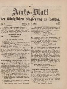 Amts-Blatt der Königlichen Regierung zu Danzig, 1. März 1884, Nr. 9