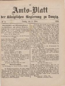 Amts-Blatt der Königlichen Regierung zu Danzig, 15. März 1884, Nr. 11