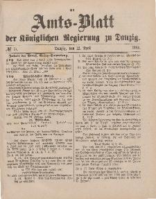 Amts-Blatt der Königlichen Regierung zu Danzig, 12. April 1884, Nr. 15