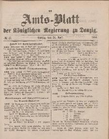 Amts-Blatt der Königlichen Regierung zu Danzig, 26. April 1884, Nr. 17