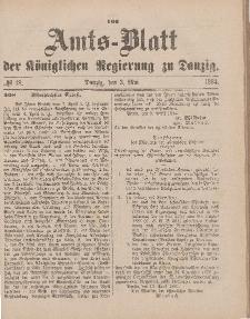 Amts-Blatt der Königlichen Regierung zu Danzig, 3. Mai 1884, Nr. 18