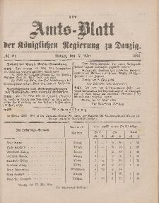 Amts-Blatt der Königlichen Regierung zu Danzig, 17. Mai 1884, Nr. 20