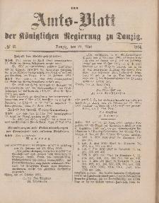 Amts-Blatt der Königlichen Regierung zu Danzig, 24. Mai 1884, Nr. 21