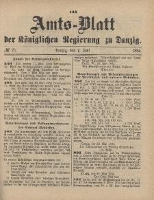 Amts-Blatt der Königlichen Regierung zu Danzig, 7. Juni 1884, Nr. 23
