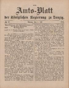 Amts-Blatt der Königlichen Regierung zu Danzig, 5. Juli 1884, Nr. 27