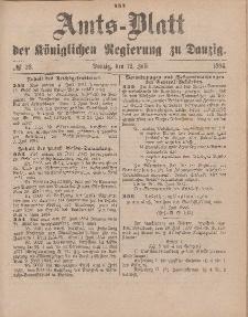 Amts-Blatt der Königlichen Regierung zu Danzig, 12. Juli 1884, Nr. 28