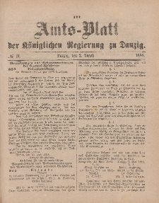 Amts-Blatt der Königlichen Regierung zu Danzig, 2. August 1884, Nr. 31