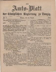 Amts-Blatt der Königlichen Regierung zu Danzig, 23. August 1884, Nr. 34