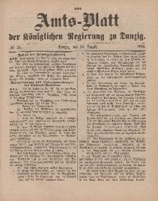 Amts-Blatt der Königlichen Regierung zu Danzig, 30. August 1884, Nr. 35