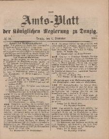 Amts-Blatt der Königlichen Regierung zu Danzig, 6. September 1884, Nr. 36