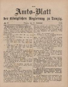 Amts-Blatt der Königlichen Regierung zu Danzig, 13. September 1884, Nr. 37