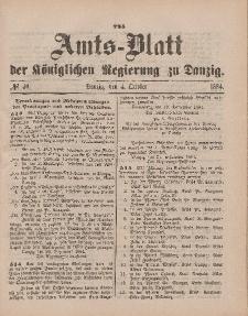 Amts-Blatt der Königlichen Regierung zu Danzig, 4. Oktober 1884, Nr. 40