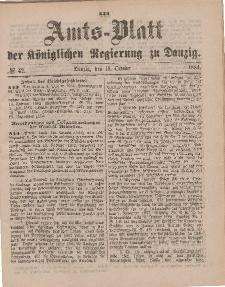 Amts-Blatt der Königlichen Regierung zu Danzig, 18. Oktober 1884, Nr. 42