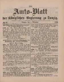 Amts-Blatt der Königlichen Regierung zu Danzig, 1. November 1884, Nr. 44