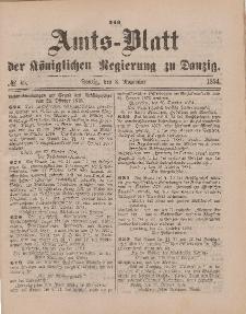 Amts-Blatt der Königlichen Regierung zu Danzig, 8. November 1884, Nr. 45