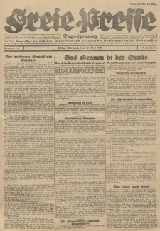 Freie Presse, Nr. 119 Mittwoch 23. Mai 1928 4. Jahrgang