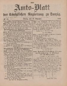 Amts-Blatt der Königlichen Regierung zu Danzig, 29. November 1884, Nr. 48