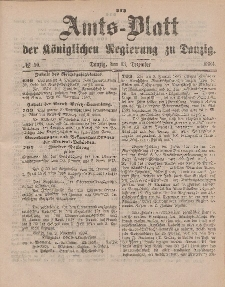 Amts-Blatt der Königlichen Regierung zu Danzig, 13. Dezember 1884, Nr. 50