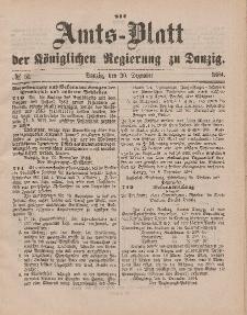 Amts-Blatt der Königlichen Regierung zu Danzig, 20. Dezember 1884, Nr. 51
