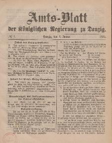 Amts-Blatt der Königlichen Regierung zu Danzig, 3. Januar 1885, Nr. 1