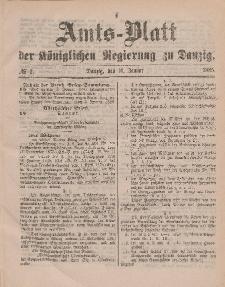 Amts-Blatt der Königlichen Regierung zu Danzig, 10. Januar 1885, Nr. 2