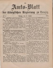 Amts-Blatt der Königlichen Regierung zu Danzig, 17. Januar 1885, Nr. 3