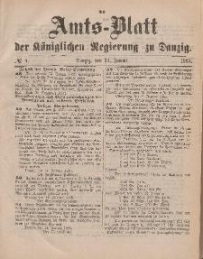 Amts-Blatt der Königlichen Regierung zu Danzig, 24. Januar 1885, Nr. 4