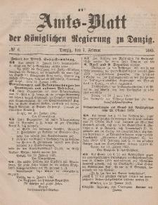 Amts-Blatt der Königlichen Regierung zu Danzig, 7. Februar 1885, Nr. 6
