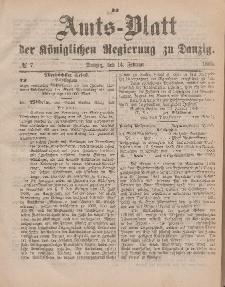 Amts-Blatt der Königlichen Regierung zu Danzig, 14. Februar 1885, Nr. 7