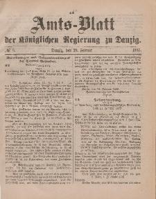 Amts-Blatt der Königlichen Regierung zu Danzig, 28. Februar 1885, Nr. 9