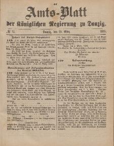 Amts-Blatt der Königlichen Regierung zu Danzig, 28. März 1885, Nr. 13