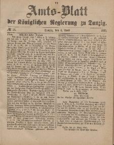 Amts-Blatt der Königlichen Regierung zu Danzig, 4. April 1885, Nr. 14