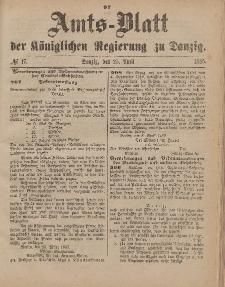 Amts-Blatt der Königlichen Regierung zu Danzig, 25. April 1885, Nr. 17