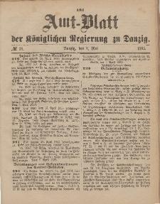 Amts-Blatt der Königlichen Regierung zu Danzig, 2. Mai 1885, Nr. 18