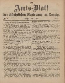 Amts-Blatt der Königlichen Regierung zu Danzig, 9. Mai 1885, Nr. 19