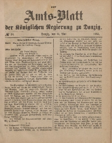 Amts-Blatt der Königlichen Regierung zu Danzig, 16. Mai 1885, Nr. 20