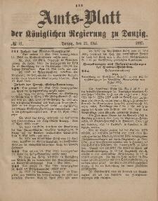 Amts-Blatt der Königlichen Regierung zu Danzig, 23. Mai 1885, Nr. 21