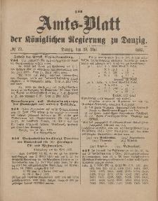 Amts-Blatt der Königlichen Regierung zu Danzig, 30. Mai 1885, Nr. 22