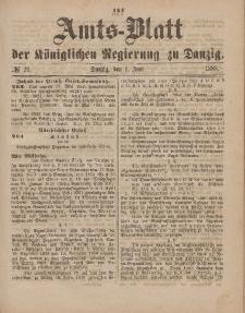 Amts-Blatt der Königlichen Regierung zu Danzig, 6. Juni 1885, Nr. 23