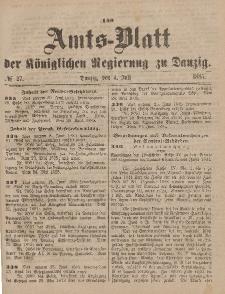 Amts-Blatt der Königlichen Regierung zu Danzig, 4. Juli 1885, Nr. 27