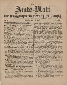 Amts-Blatt der Königlichen Regierung zu Danzig, 11. Juli 1885, Nr. 28