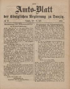 Amts-Blatt der Königlichen Regierung zu Danzig, 18. Juli 1885, Nr. 29
