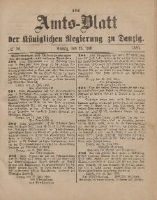 Amts-Blatt der Königlichen Regierung zu Danzig, 25. Juli 1885, Nr. 30