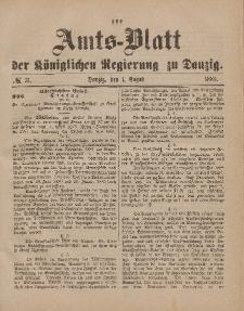 Amts-Blatt der Königlichen Regierung zu Danzig, 1. August 1885, Nr. 31